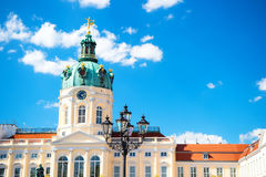 Charlottenburg palace and garden in Berlin Royalty Free Stock Photos