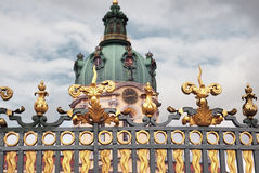 Charlottenburg Palace gates Berlin Stock Photos