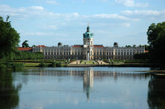 Charlottenburg Palace with lake in Berlin/Germany Royalty Free Stock Images