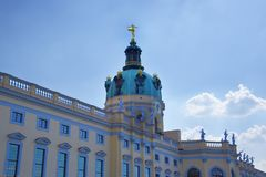 The Charlottenburg palace is the largest palace in Berlin. royalty free stock photo