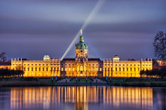 Charlottenburg palace in the night, Berlin, Germany royalty free stock photography