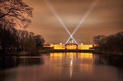 Charlottenburg palace in the night, Berlin, Germany royalty free stock images