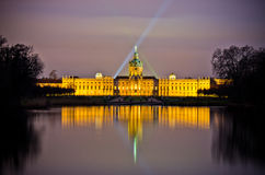 Charlottenburg palace in the night, Berlin, Germany royalty free stock photos