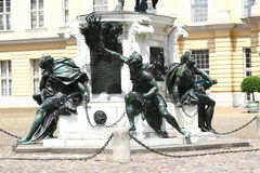 Charlottenburg Palace statue in Berlin Stock Images