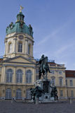 Charlottenburg Palace with the statue in front Royalty Free Stock Photography