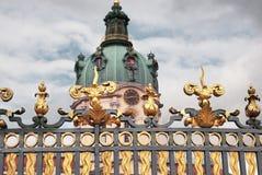 Charlottenburg-Palast versieht Berlin mit einem Gatter Stockfotos