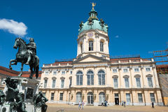 Charlottenburg Schloss (Palace) and Statue Friedrich Wilhelm I Royalty Free Stock Images