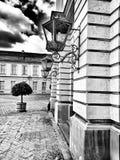 Charlottenburg slott Konstnärlig blick i svartvitt Arkivbilder