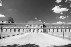 Charlottenburg slott och trädgård i Berlin, Tyskland historiskt museum destinationsställe för turister som omkring reser arkivbilder