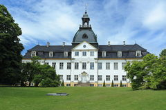 Charlottenlund chateau. Charlottenlund Palace seen from the garden, Denmark royalty free stock photos