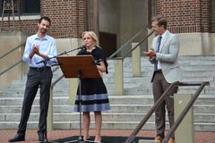 Charlottesville-Protest in Ann Arbor - Dingell Stockfoto
