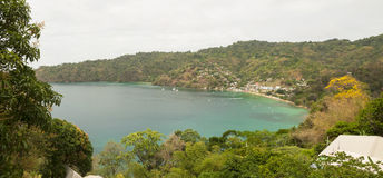 Charlotteville bay beach, Tobago Royalty Free Stock Images