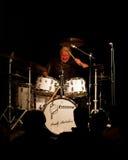 Charly Antolini, baterista suíço do jazz e seu balanço Fotografia de Stock Royalty Free