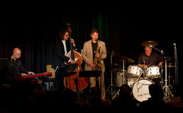 Charly Antolini, Zwitserse jazzslagwerker, en zijn Swin Stock Fotografie
