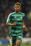 Charly Musonda Junior of Real Betis. During a Spanish League match against RCD Espanyol at the Power8 stadium on March 3, 2016 in Barcelona, Spain royalty free stock photography