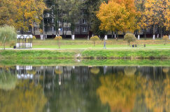 The charm of autumn in a residential area Royalty Free Stock Images