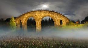 Charm of the historic bridge Stock Images