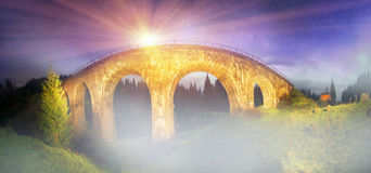 Charm of the historic bridge Royalty Free Stock Photography