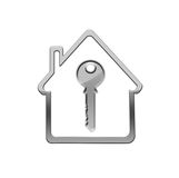 Charm. Key on white background royalty free illustration