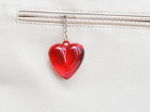 Charm red heart Royalty Free Stock Image