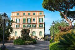 The charm of the Sorrentina peninsula. Sorrento, Italy - November 15, 2015: The dependance of a luxury hotel in the country center royalty free stock photography