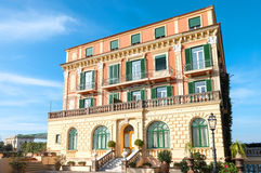 The charm of the Sorrentina peninsula. Sorrento, Italy -  November 15, 2015:  The dependance  of a luxury hotel in the country center stock photos