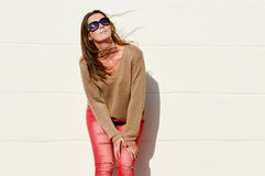 Charm woman in sunglasses Stock Photo