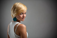 Charm young blond woman Stock Photography