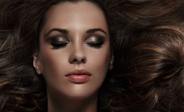 charma för brunett Royaltyfri Foto