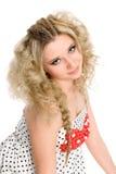 Charmant jong blondemeisje. stock afbeelding