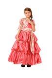 Charmant meisje in een lange kleding royalty-vrije stock afbeeldingen