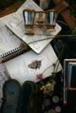 charmant romantisch uitstekend stilleven royalty-vrije stock fotografie