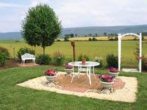 Charmant terras op rand van gebieden Royalty-vrije Stock Foto's