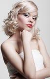 Charmante blonde Stock Foto's