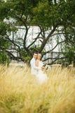 Charmante bruid en bruidegom Stock Fotografie