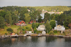 Charmante eilanden dichtbij Stockholm Royalty-vrije Stock Foto's