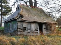 Charmante houten cabine in de winter, Sarratt, Hertfordshire royalty-vrije stock fotografie