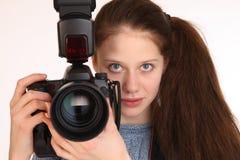 Charmante meisjesfotograaf Royalty-vrije Stock Foto