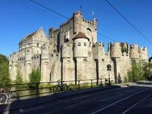 Charmante straten van Gent Frankrijk royalty-vrije stock afbeeldingen