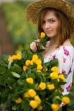 Charmante tuinman Royalty-vrije Stock Afbeeldingen