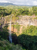 Charmarel Waterfalls Mauritius Royalty Free Stock Image