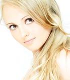 charme de blonde Photos stock