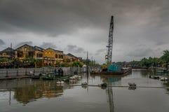 Charme industriel près de la ville antique de Hoi An, Vietnam Images libres de droits