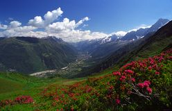 Charme van Chamonix stock foto's