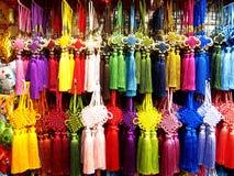 Charmes chanceux chinois colorés Photos stock