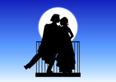 Charmeur en Juliet royalty-vrije illustratie