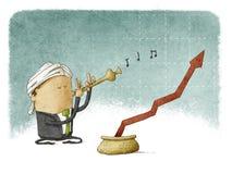 Charmeur financier illustration libre de droits