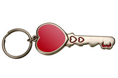 Charmez une clé pour le coeur Image libre de droits