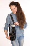 Charmig flickafotograf Royaltyfria Foton
