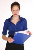 Charmig flickasekreterare Arkivbild